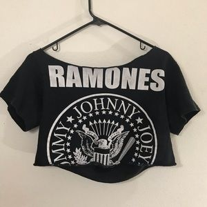Vintage Ramones Cropped Tee - Punk Rock - Soft